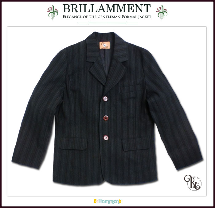 158dbd4f6e180 日本製 子供服 英国小紳士 高級感あるテーラードジャケット(JPBt) 卒業