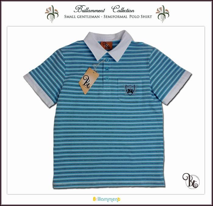 be6ce6b0a17bd 子供服アドゥラブル - 好印象白シャツ襟 ブランドロゴと貴族紋章刺繍入り ...